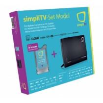 simpliTV Modul + Indoor Antenne - SET für DVB-T2 TV-Geräte und Receiver