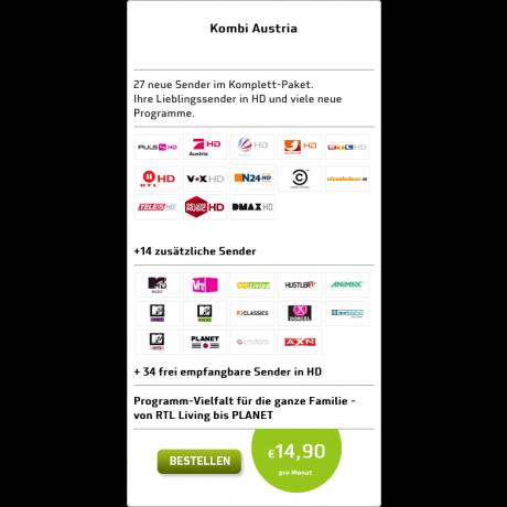 HD Austria Kombi - mehr Sender über die ORF Karte